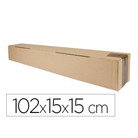 Caja para embalar qconnect tubo medidas 1020x150x150 mm espesor carton 3 m