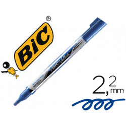 Rotulador bic velleda liquid pocket punta redonda 22 mm azul