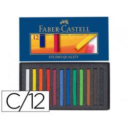 Tiza pastel faber castell estuche carton de 12 unidades colores surtidos