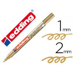 Rotulador edding punta fibra 751 oro punta redonda 12 mm