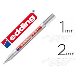 Rotulador edding punta fibra 751 blanco punta redonda 12 mm