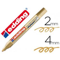Rotulador edding punta fibra 750 oro punta redonda 24 mm
