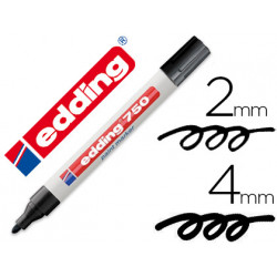Rotulador edding punta fibra 750 negro punta redonda 24 mm