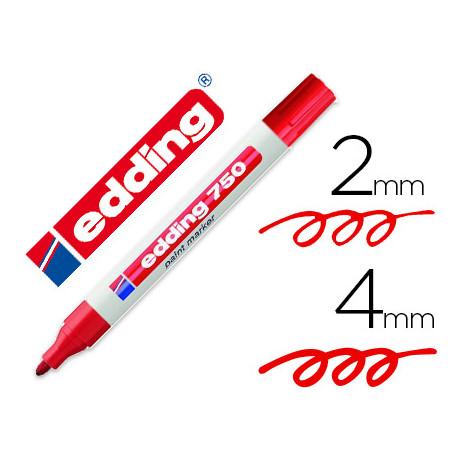 Rotulador edding punta fibra 750 rojo punta redonda 24 mm