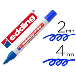 Rotulador edding punta fibra 750 azul punta redonda 35 mm