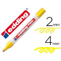 Rotulador edding punta fibra 750 amarillo punta redonda 24 mm
