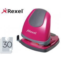 Taladrador rexel easy touch color rosa capacidad 30 hojas