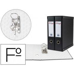 Modulo pardo 2 archivadores de palanca folio 2 anillas de 70 mm negro 350x1