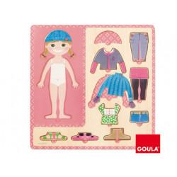 Puzzle diset 10 piezas vestir niña