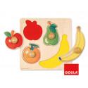 Puzzle diset 4 piezas frutas