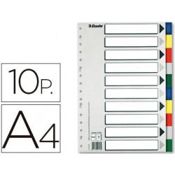 Separador esselte plastico juego de 10 separadores din a4con 5 colores mult
