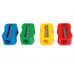 Sacapuntas m+r de plastico 1 uso sin tornillo forma rectangular ergonomica