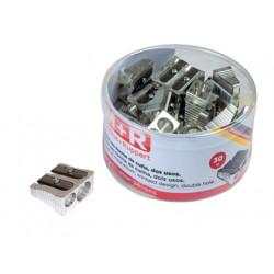 Sacapuntas m+r 211 metalico 2 usos cuña bote de 30 unidades