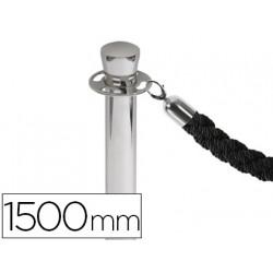 Cordon trenzado negro 1500 mm para poste separador