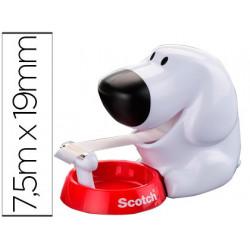 Portarrollo sobremesa scotch doggy c31 de 19mm x89 mt incluye rollo de cin