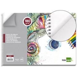Bloc dibujo liderpapel artistico espiral 230x325mm 20 hojas 180 g/m2 sin re