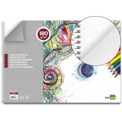 Bloc dibujo liderpapel artistico espiral 460x325mm 20 hojas 180 g/m2 sin re