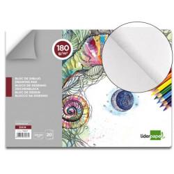 Bloc dibujo liderpapel artistico encolado 230x325mm 20 hojas 180 g/m2 sin r