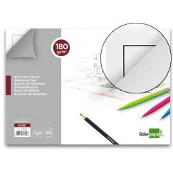 Bloc dibujo liderpapel lineal encolado 230x325mm 20 hojas 180 g/m2 con recu