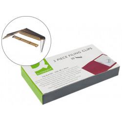 Encuadernador fastener qconnect dorado caja de 50