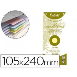 Separador exacompta cartulina de 180 gr juego de 100 separadores 105x240 mm