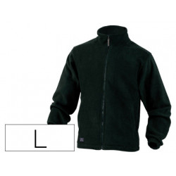 Chaqueta deltaplus polar con cremallera 2 bolsillos color negro talla l