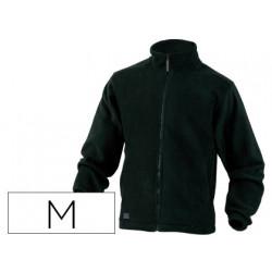 Chaqueta deltaplus polar con cremallera 2 bolsillos color negro talla m