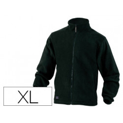 Chaqueta deltaplus polar con cremallera 2 bolsillos color negro talla xl