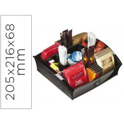 Bandeja organizadora cep con 9 compartimentos poliestireno color negro espe