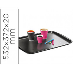 Bandeja cep diseño clasico policarbonato color negro 532x372x20 mm