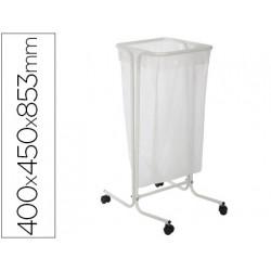 Soporte cep para bolsas de basura de 110 litros en plastico y acero con rue