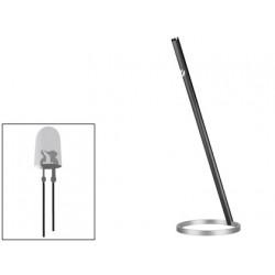 Lampara de oficina cep led de 3w aluminio anodizado color negro 450x145 mm