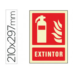 Pictograma syssa señal de extintor en pvc fotoluminiscente 210x297 mm
