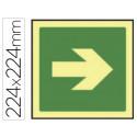 Pictograma syssa señal de via de evacuacion en pvc fotoluminiscente 224x224