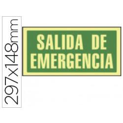 Pictograma syssa señal de salida de emergencia en pvc fotoluminiscente 297x