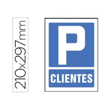 Pictograma syssa señal de parking clientes en pvc 210x297 mm