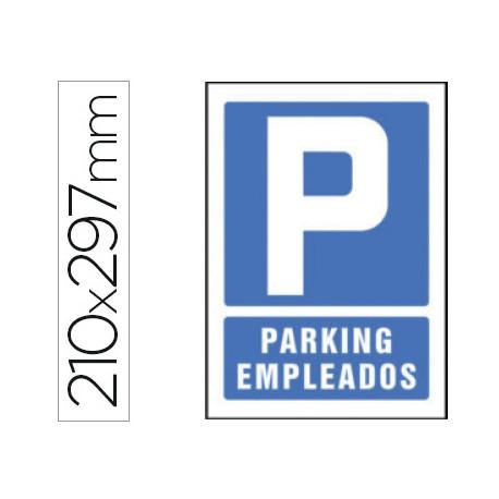 Pictograma syssa señal de parking empleados en pvc 210x297 mm