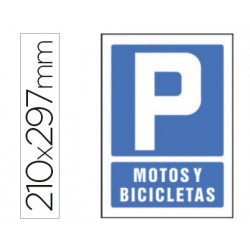 Pictograma syssa señal de parking motos y bicicletas en pvc 210x297 mm