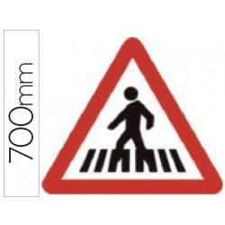 Pictograma syssa señal vial paso para peatones en acero galvanizado 700 mm