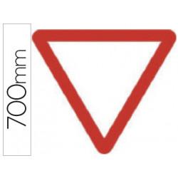 Pictograma syssa señal vial ceda el paso en acero galvanizado 700 mm