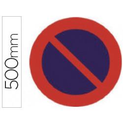 Pictograma syssa señal vial estacionamiento prohibido en acero galvanizado