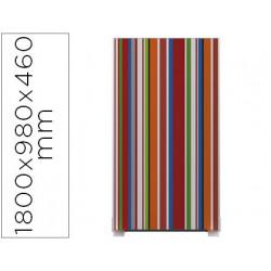 Mampara separadora easyscreen con marco aluminio y panel de tela decorado r