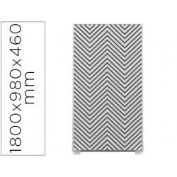Mampara separadora easyscreen con marco aluminio y panel de tela decorado z