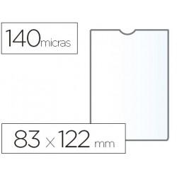 Funda portadocumento esselte plastico transparente 140 micras tamaño 83x122