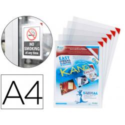 Funda de presentacion tarifold adhesiva removible din a4 con esquina magnet