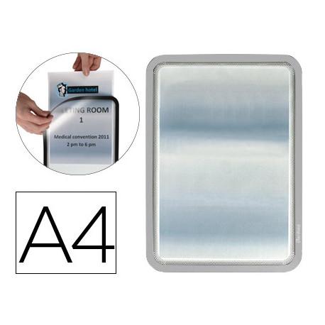Marco porta anuncios tarifold magneto din a4 dorso adhesivo removible color