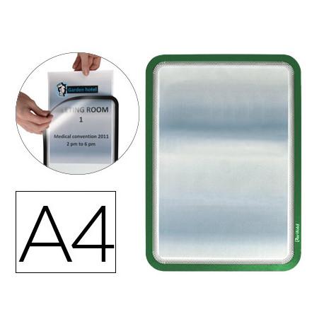 Marco porta anuncios gtarifold magneto din a4 dorso adhesivo removible colo