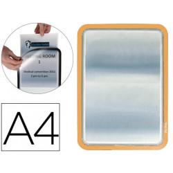 Marco portasanuncios tarifold magneto din a4 dorso adhesivo removible color
