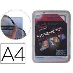 Marco porta anuncios tarifold magneto din a4 con 4 bandas magneticas en el