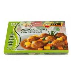 Albondigas con verduras abrico me racion individual calentar en microondas